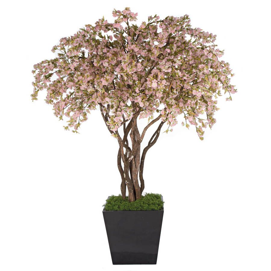 8 Foot Cherry Blossom Tree Potted From Artificial Plants And Trees Artificial Plant Arrangements Artificial Plants Outdoor Small Artificial Plants