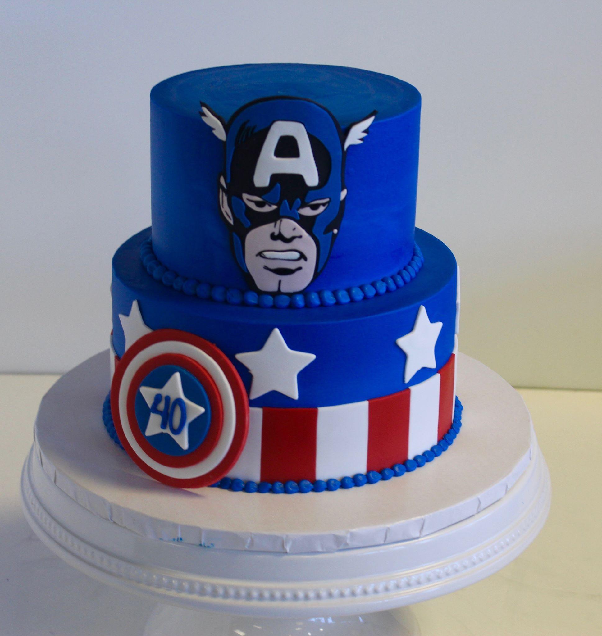 Captain America Cake Topper Nz