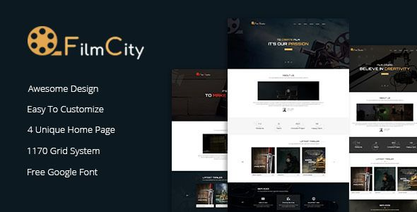cool Flim Studio - Film Film Advertising and marketing HTML Template ...