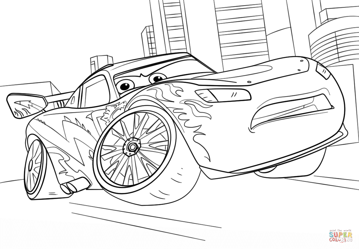 Lightning Mcqueen From Cars 3 Super Coloring Cars Coloring Pages Disney Coloring Pages Coloring Pages