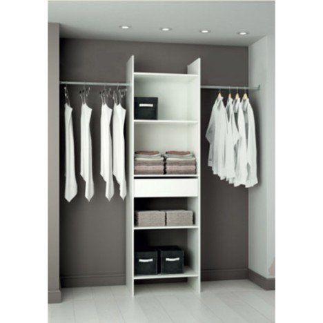 Kit Dressing Blanc Modul Eco H203 X L180 X P40 Cm Com Imagens Vestiarios Pequenos Armario Pequeno Projeto De Vestiario