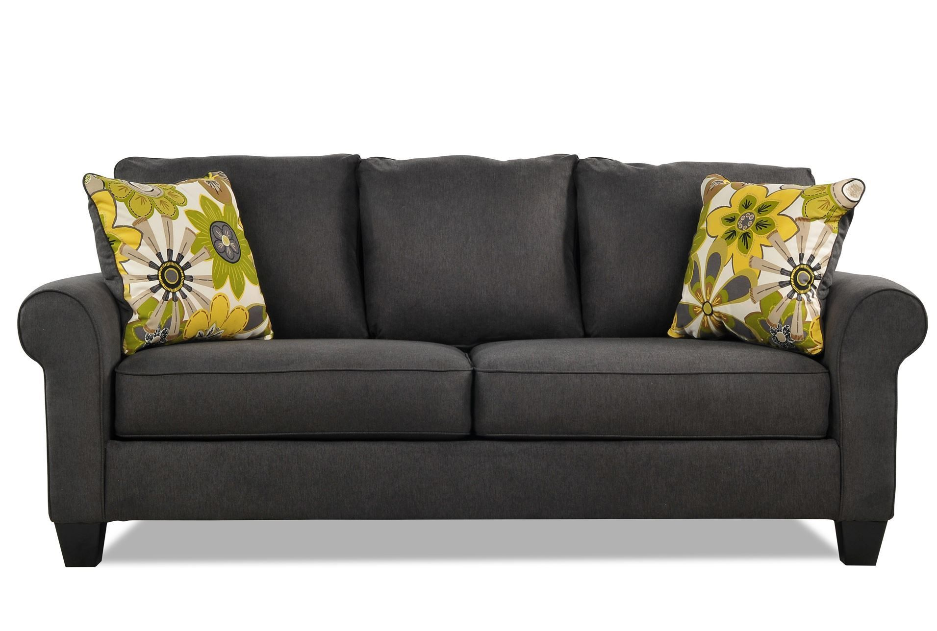 Nolana Charcoal Sofa I Think This Will Be My New Minus The Pillows Going To Add Own Pop Of Color