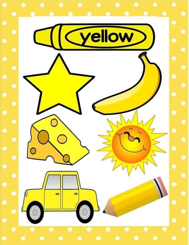 Pin Di Colour Shapes Yellow color ideas for preschool