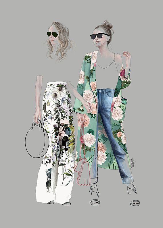 Photo of Street Fashion Illustration -Agata Wierzbicka