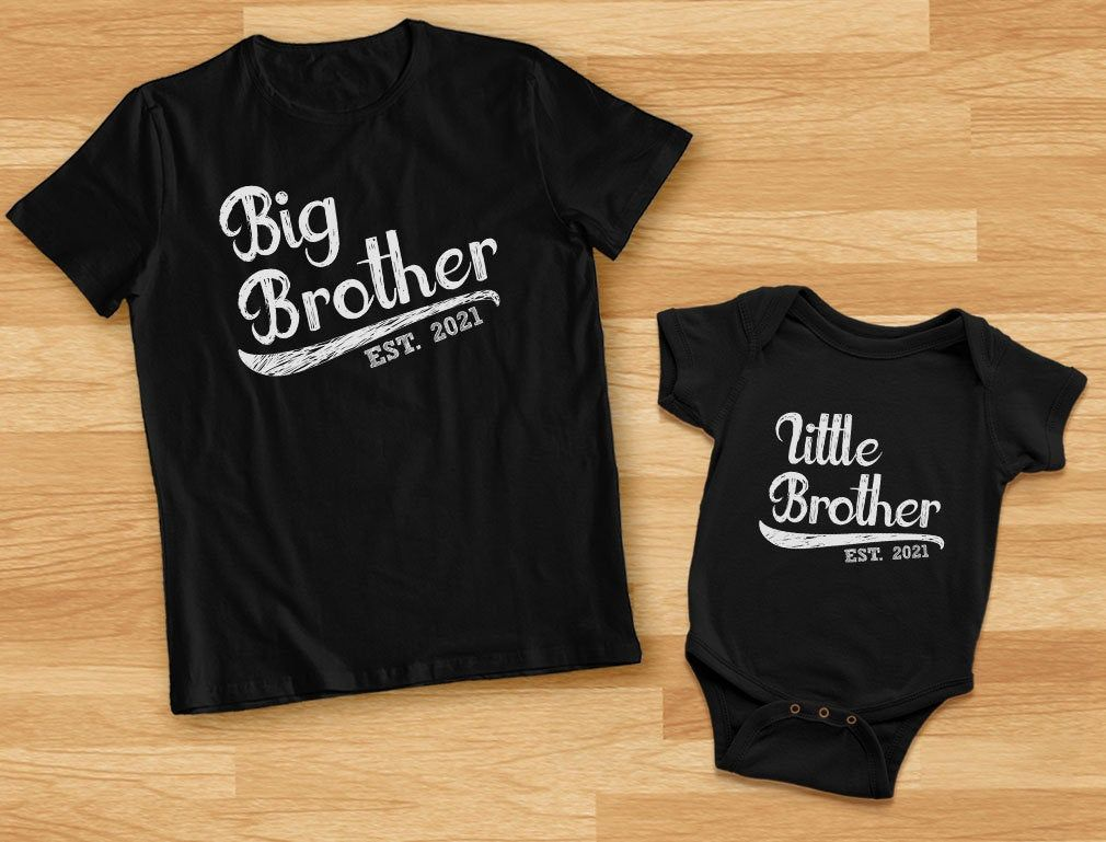sibling tee pregnancy announcement lil bro Little Brother one piece baby shower decor birth announcement baby shower present