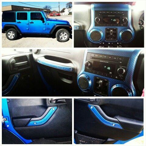 Hydro Dipped My 2015 Jeep Wrangler Jk Interior Using Hydrographics Carbon Fiber 2015 Jeep Wrangler Jeep Wrangler Jk Jeep Parts