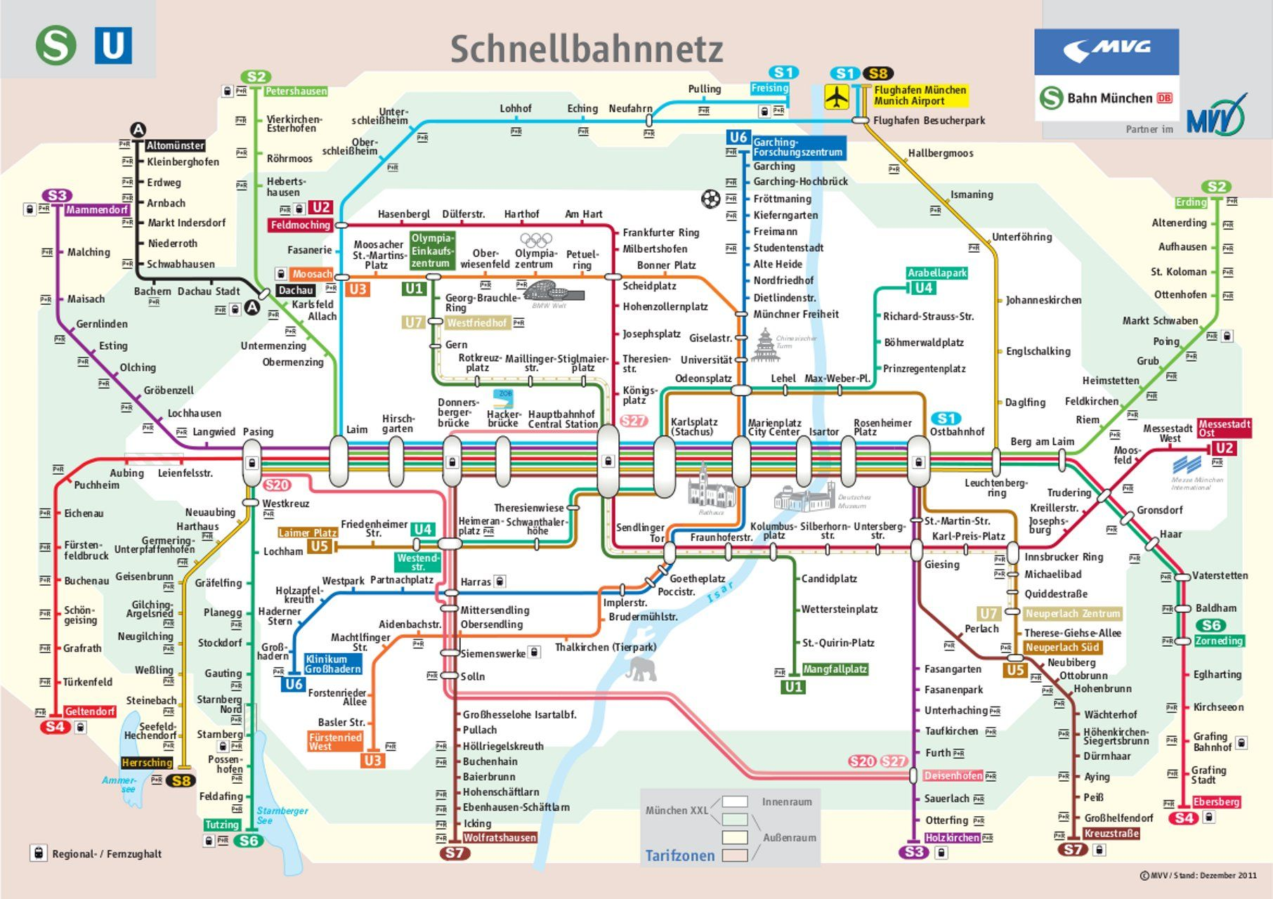 all s and u bahn lines of the entire mvv network at a glance. Black Bedroom Furniture Sets. Home Design Ideas
