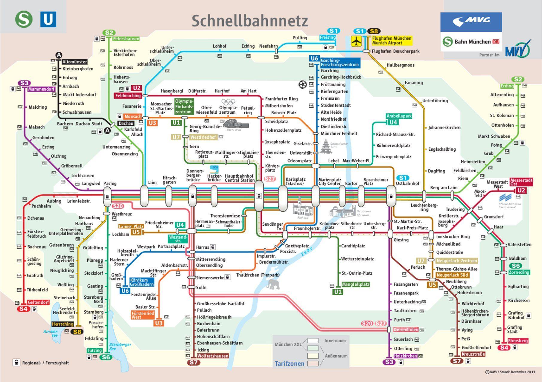 Mvv Network Maps Train Map Metro Map Subway Map