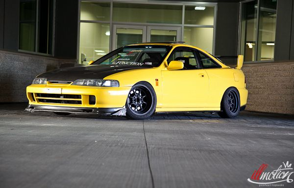 black and yellow 1998 acura integra gs cool cars pinterest. Black Bedroom Furniture Sets. Home Design Ideas
