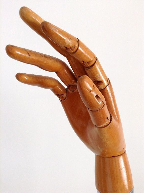 Vintage Articulated Wooden Hand Wooden Display Hand Hand