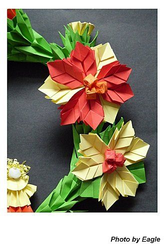 Eagle christmas wreath 2 origami eagle christmas wreath 2 origami christmasorigami flowerspaper mightylinksfo
