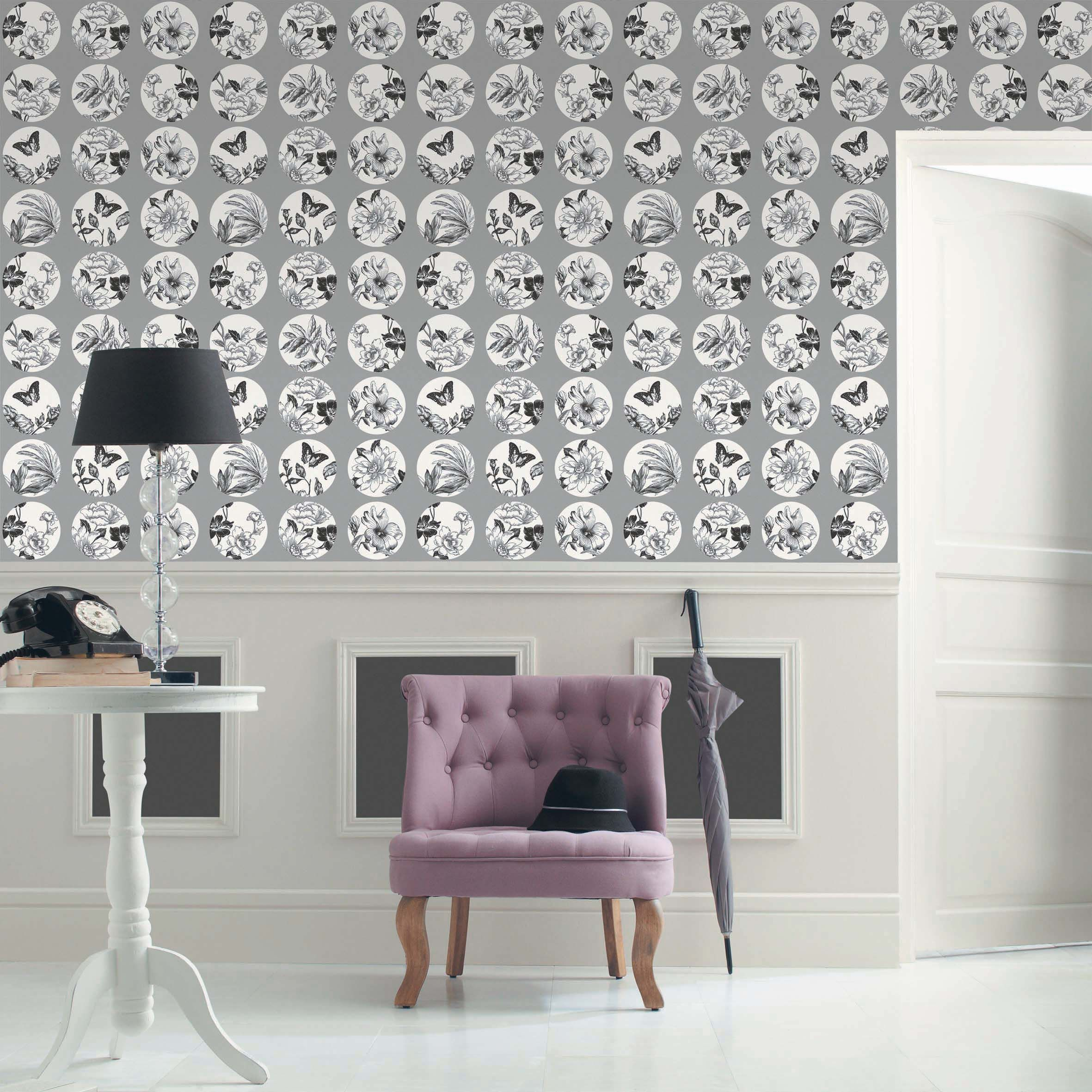 Collection : B&W Papillons #papierpeint  #decoration #interieur #noir #blanc #blackandwhite #noiretblanc #Caselio  http://www.caselio.fr