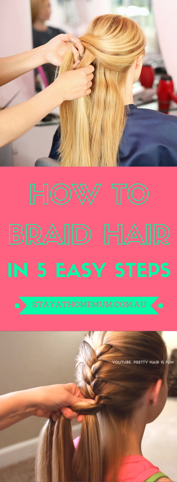 Here are our step by step instructions on how to to do a basic braid