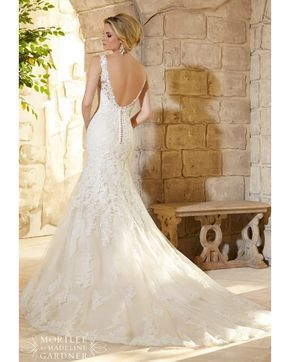 Mori Lee 2773 Dress Lace Net Embroidered V-Neckline Fit-and-Flare