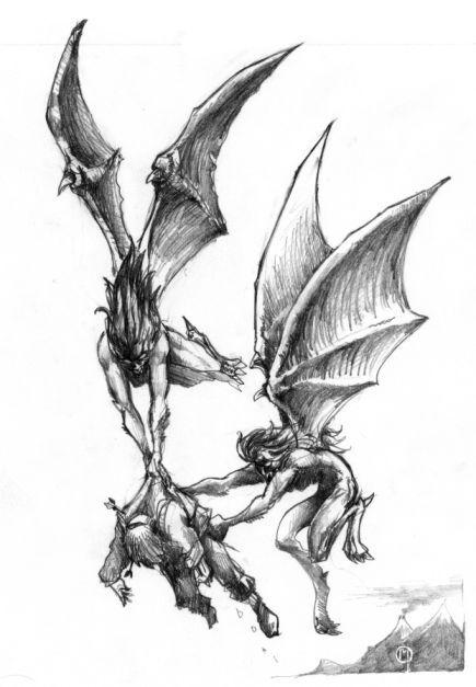 Mitologia Grega - Harpias | Mitologia e lendas | Sketches ...