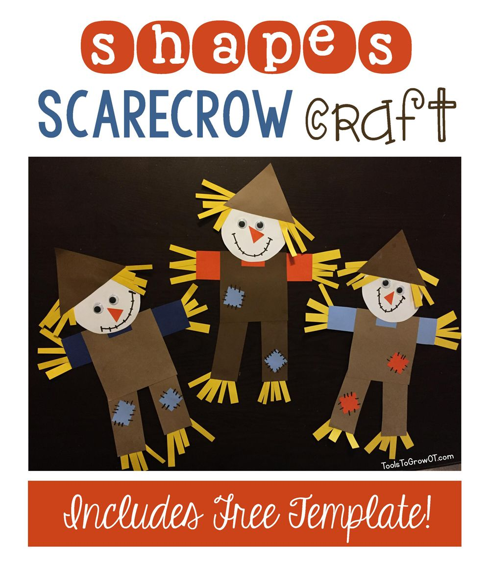 Shapes Scarecrow Craft Scarecrow Crafts Fall Arts Crafts