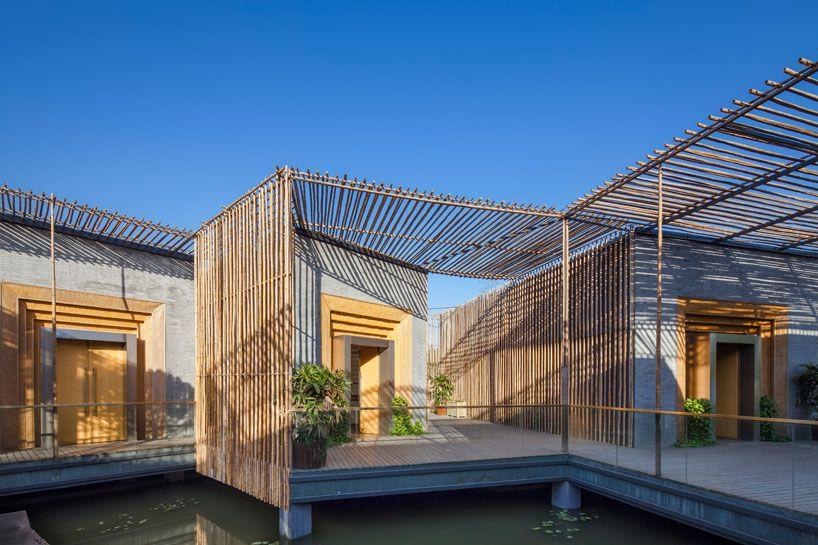 Hwcd Bamboo Courtyard Teahouse Bamboo House Courtyard House