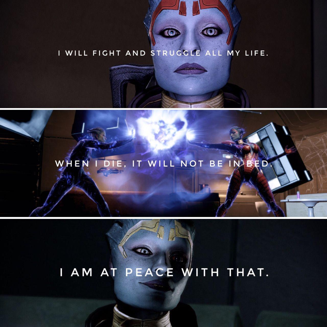 Samara I Will Fight And Struggle All My Life When I Die It Will Not Be In My Bed I Am At Peace With That Ma Mass Effect Art Mass Effect