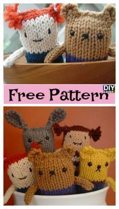 Super Cute Knitted Mini Animals - Free Pattern # ...
