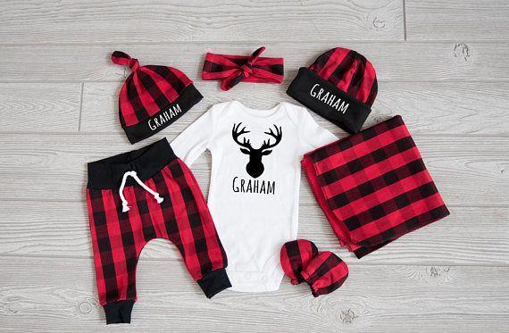 Photo of Baby Boy Coming Home Outfit, Weihnachten: WÄHLEN SIE IHREN COMBO Personalized D…