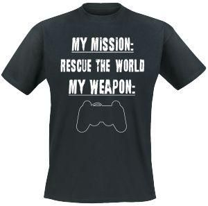 My Mission: Rescue the world.  My weapon..... something for Playstation addicts