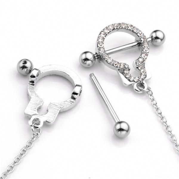 Pupick Bellybutton Ring Body Piercing Jewelry Surgical Steel Internally Threaded Prong Set Star Jeweled Navel Banana 14g Multiple Style