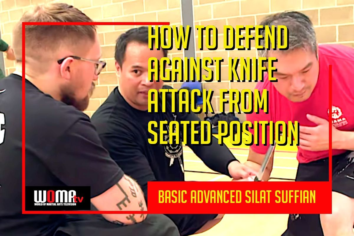 How to defend against knife attack from seated position