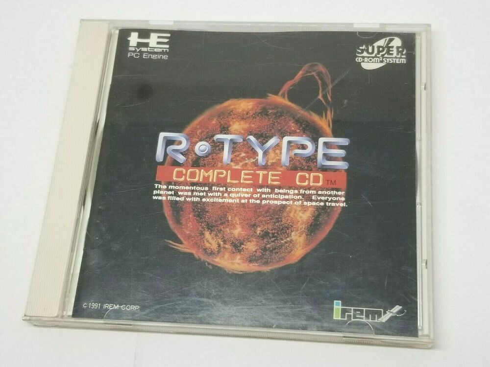 NEC PC Engine Super CD-Rom R-TYPE COMPLETE CD Shooter 0407A37 #NEC
