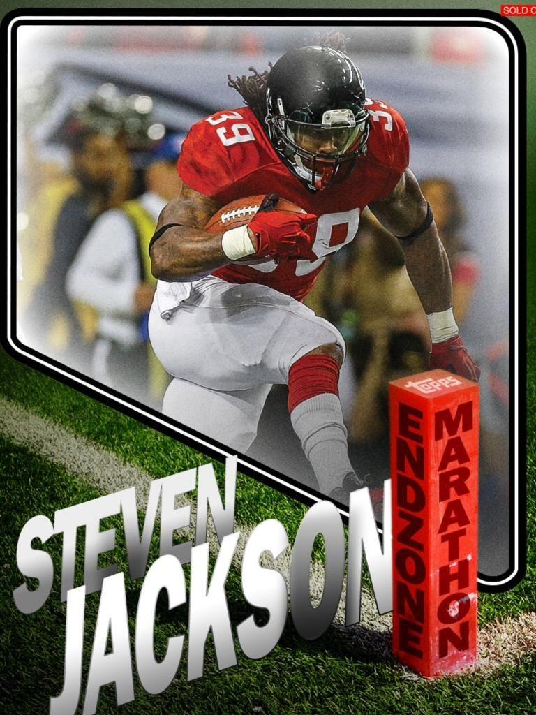 Topps Huddle Endzone Marathon Steven Jackson Atlanta Falcons