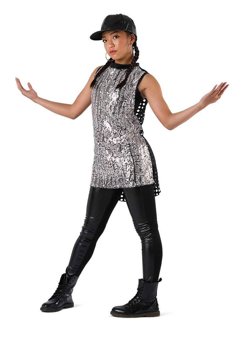 Costume Gallery Ombre Sequin Tunic Hip Hop Costume Hip Hop Costumes Dance Competition Costumes Dance Outfits