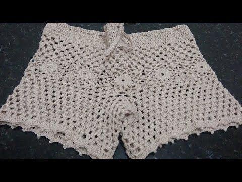 Tutorial Patrón pantalón short crochet o ganchillo paso a paso ...
