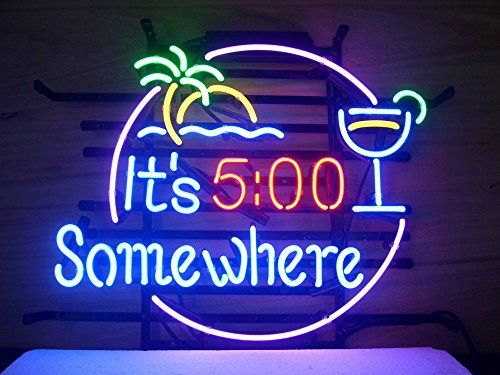 New its 5 oclock somewhere real glass neon light sign home beer new its 5 oclock somewhere real glass neon light sign home beer bar pub aloadofball Choice Image