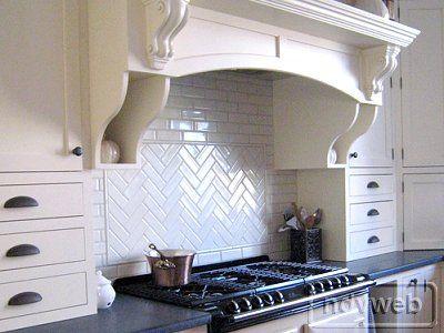 2x6 white ceramic tile, herringbone pattern backsplash - 2x6 White Ceramic Tile, Herringbone Pattern Backsplash Trusso
