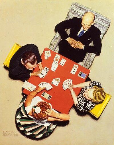 "Norman Rockwell ""The Bridge Game"" (1948)"