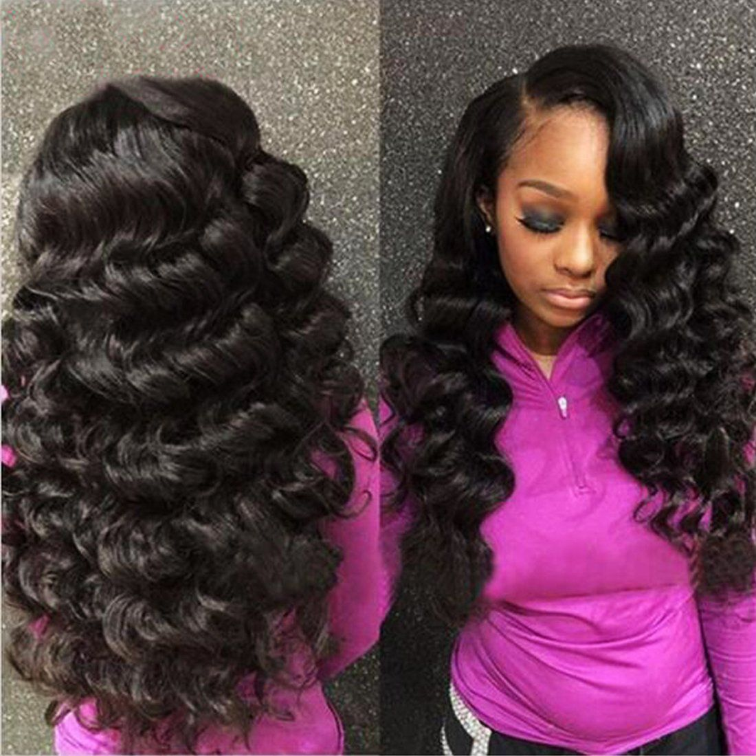 Nadula Brazilian 7a Unprocessed Loose Wave Remy Virgin Human Hair