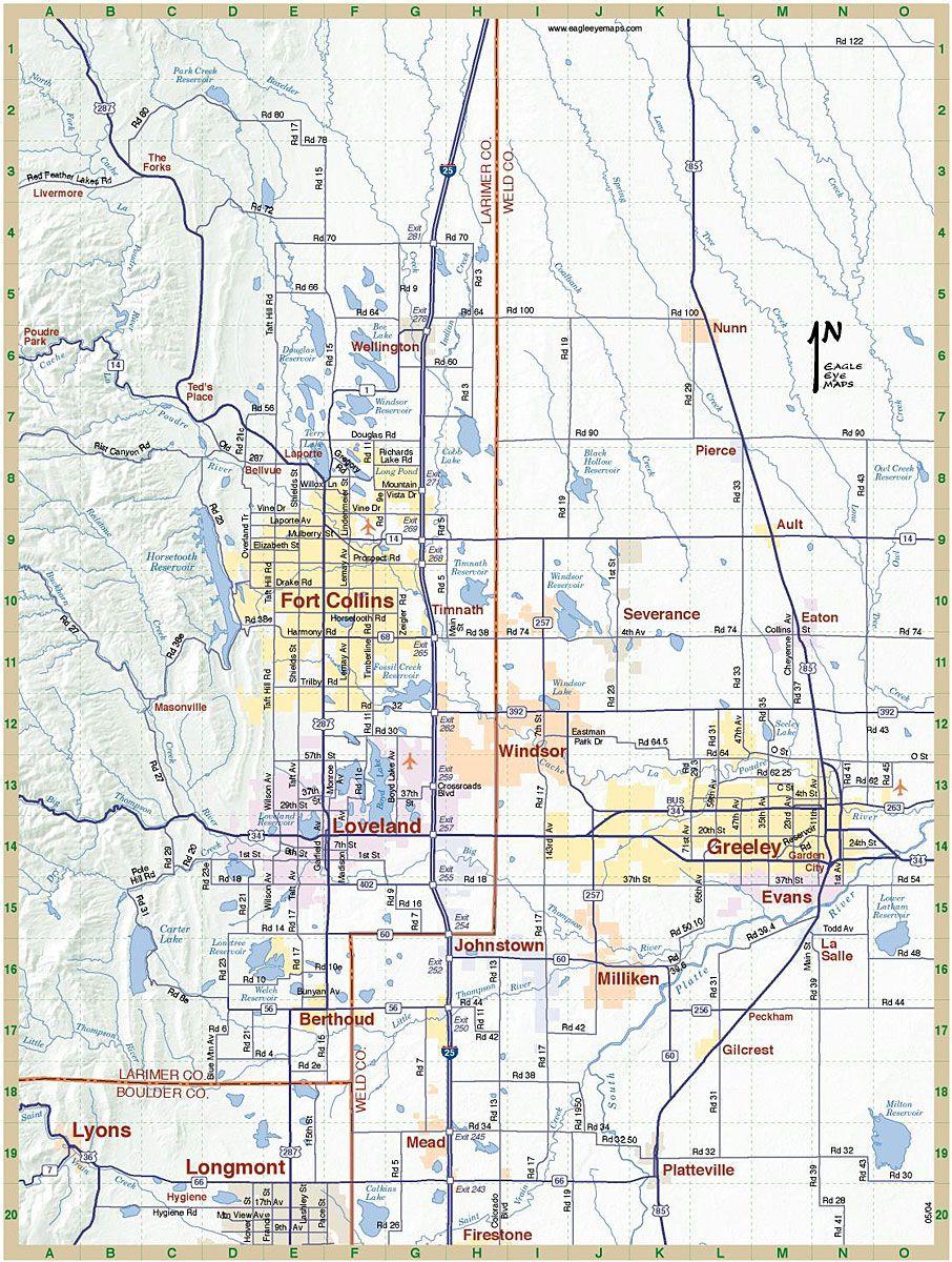Northern Colorado Map Maps Map Colorado City Fort