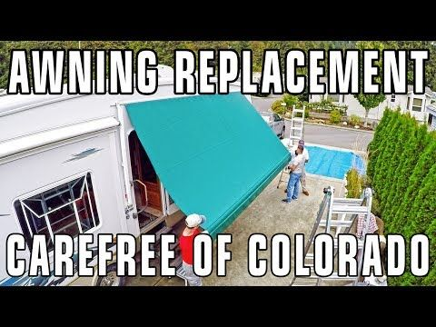 166 How To Replace An Rv Patio Awning Carefree Of Colorado Youtube Patio Awning Awning Carefree Awning