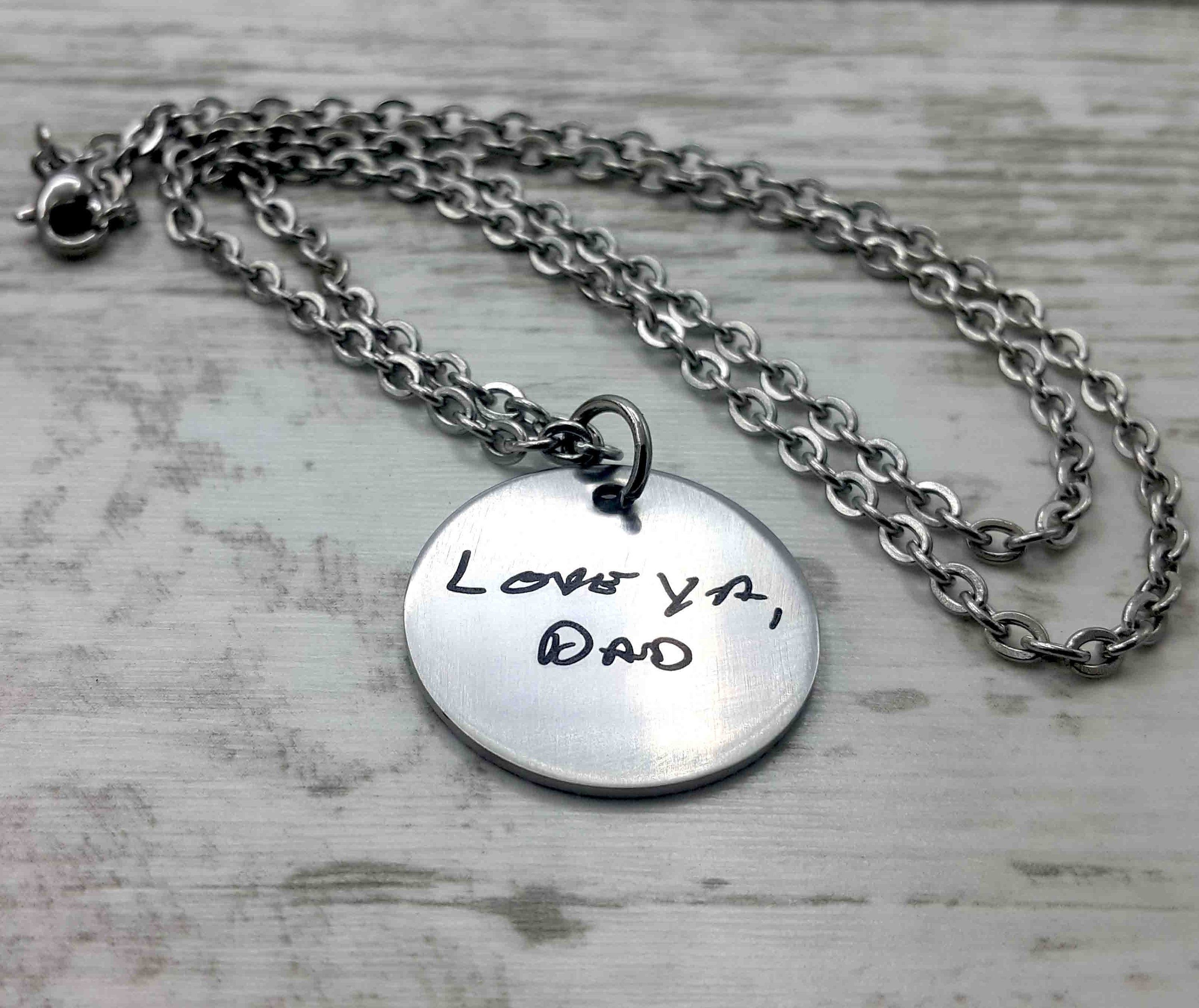 Personalized Hand Writing Necklace