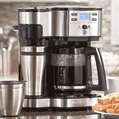 Hamilton Beach Hamilton Beach 12 Cup The Scoop Two Way Coffee Maker Nespresso In 2020 Single Serve Coffee Makers Best Coffee Maker Single Cup Coffee Maker