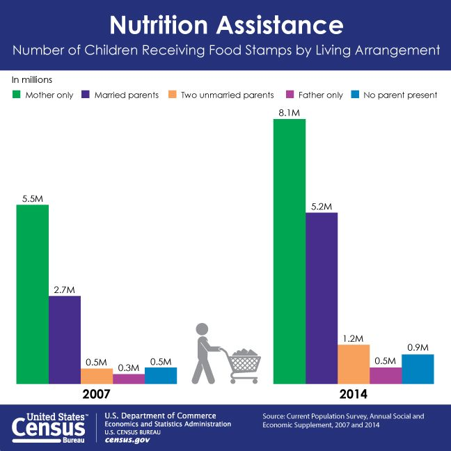 Pin by U S  Census Bureau on Data Visualizations   Food stamps, Food
