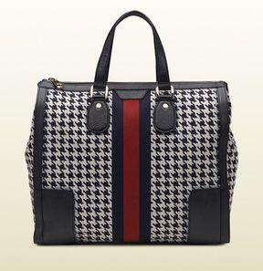 shopstyle.com: Seventies Signature Web Pied De Poule Fabric Tote