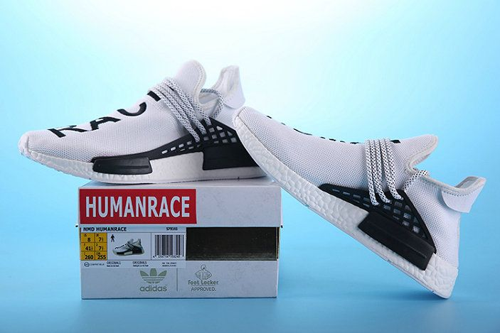 Free Shipping Only 69$ WMNS Pharrell Williams X adidas NMD HUMAN Race White