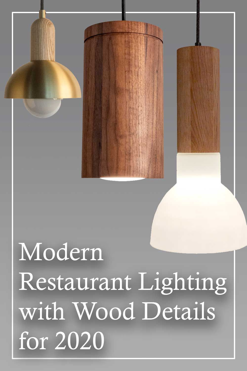 Modern Contemporary Pendant Lighting With Solid Wood Details