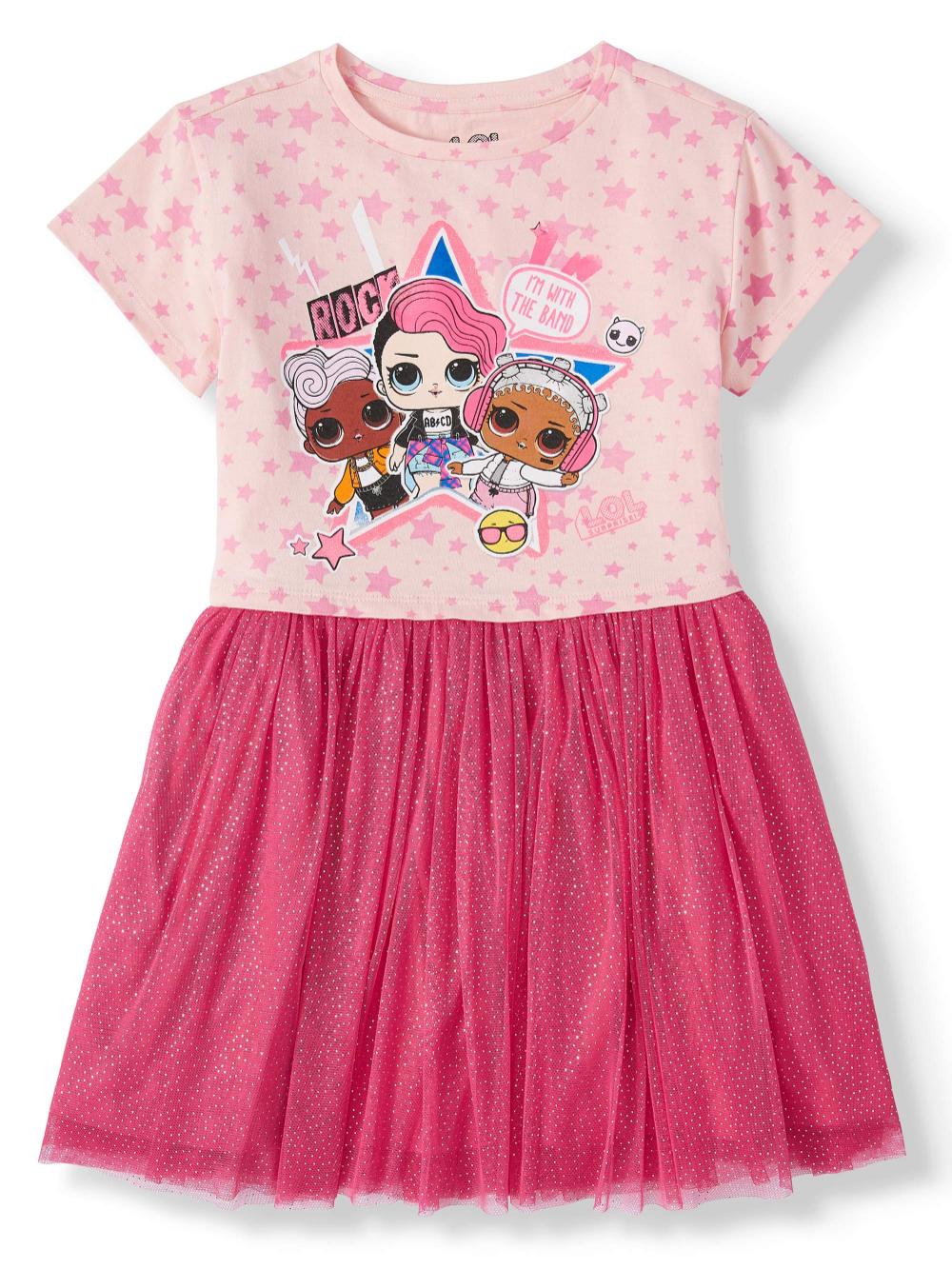 L O L Surprise L O L Surprise Foil Mesh Tutu Dress Sizes 4 16 Walmart Com Dresses Kids Girl Tutu Dress Dresses [ 1333 x 1000 Pixel ]