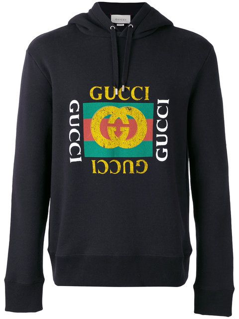 gucci logo print hoodie gucci cloth hoodie gucci men. Black Bedroom Furniture Sets. Home Design Ideas