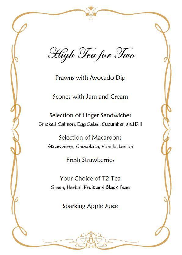Cream Tea Tea Rooms Menu