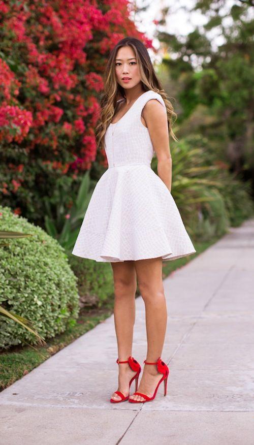 White Dresses Red