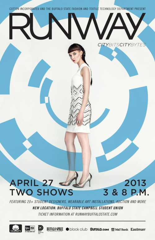 Hair by Kristin Draudt - Buffalo State College Runway 2013 Posters