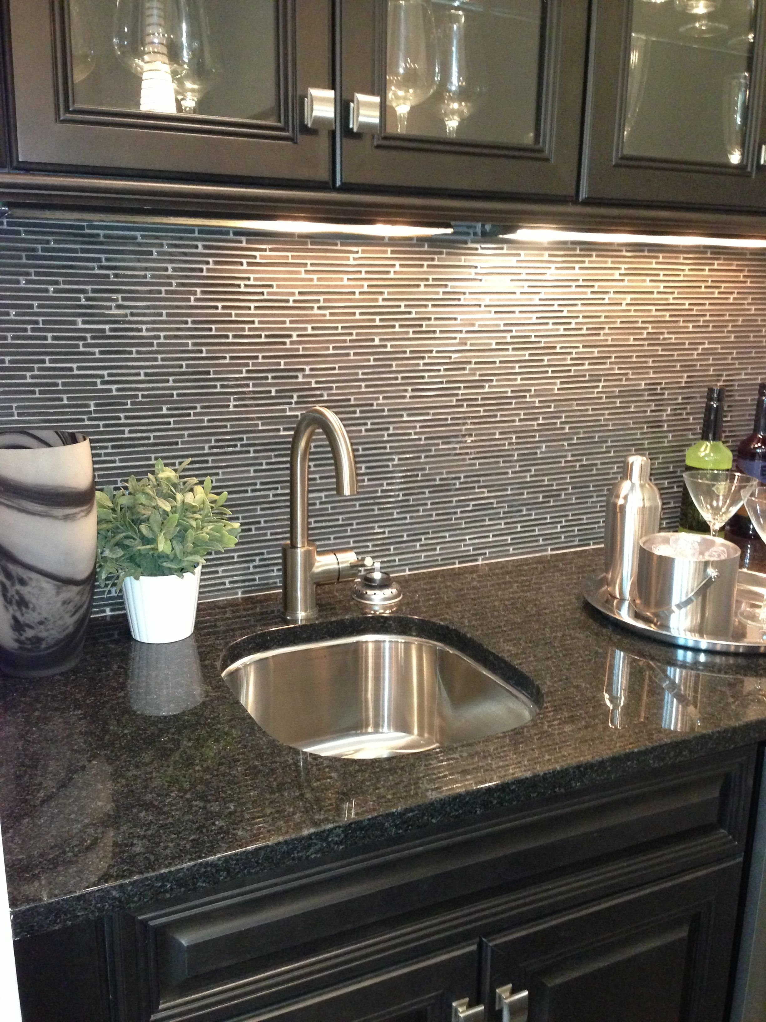 Wet Bar In Media Room Backsplash Wet Bars Kitchen Design