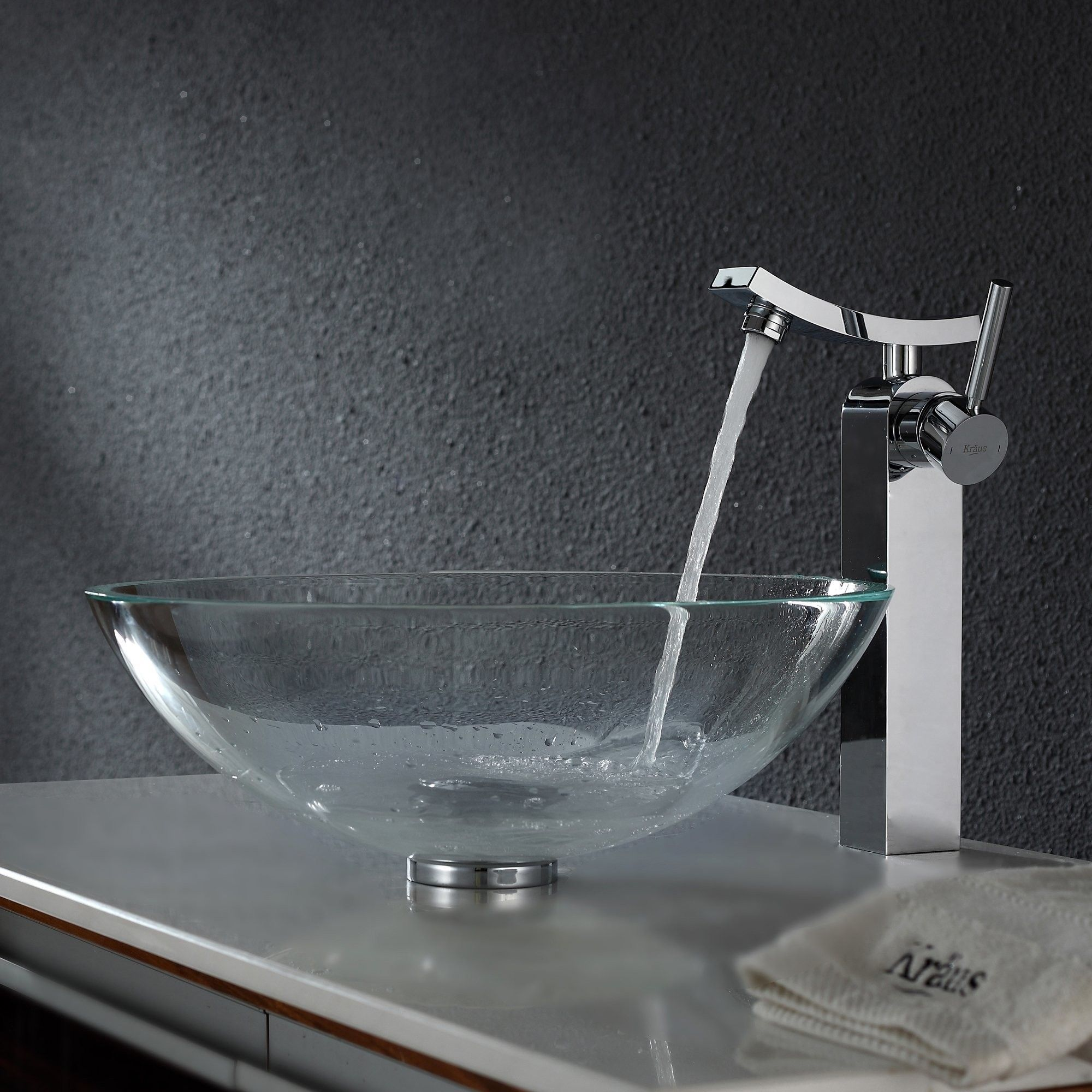 Crystal Clear Glass Vessel Sink and Unicus Faucet | Products ...